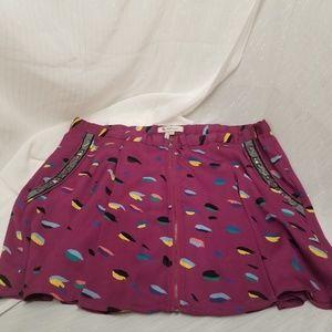 BCBGeneration Women's Fuschia Pattern Skirt Sz L